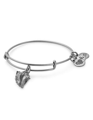 Alex And Ani Conch Shell Adjustable Bracelet-SILVER-One Size