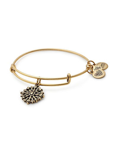 Alex And Ani Compass Charm Bangle Bracelet-GOLD-One Size