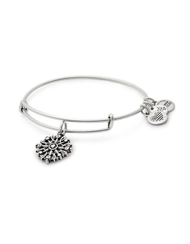 Alex And Ani Compass Charm Bangle Bracelet-SILVER-One Size