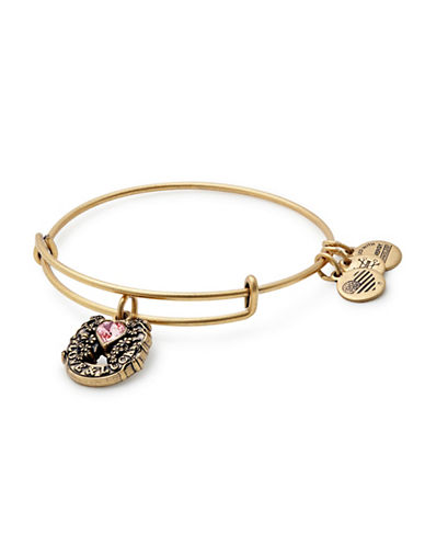 Alex And Ani Fortunes Favor Charm Bangle Bracelet-GOLD-One Size