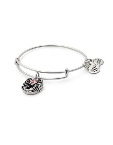Alex And Ani Fortunes Favor Charm Bangle Bracelet-SILVER-One Size