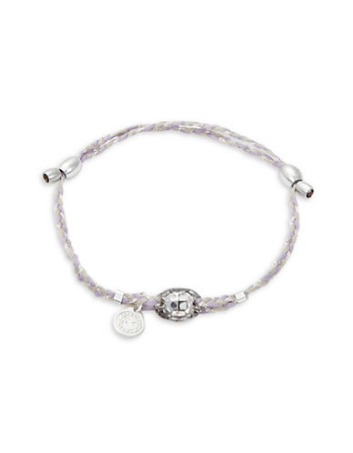 Alex And Ani Precious Threads Icy Moon Crystal Sterling Silver Bracelet-PURPLE-One Size