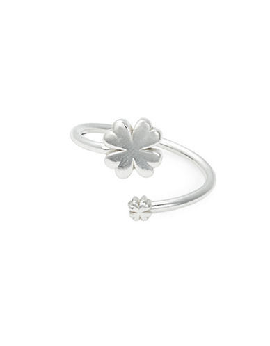 Alex And Ani Sterling Silver Four Leaf Clover Wrap Ring-SILVER-7