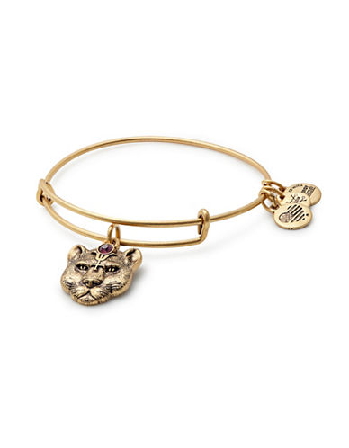 Alex And Ani Wild Heart Charm Bangle Bracelet-GOLD-One Size