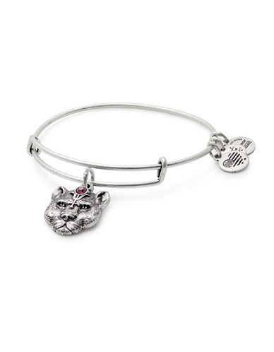 Alex And Ani Wild Heart Charm Bangle Bracelet-SILVER-One Size