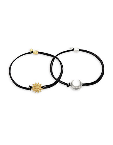 Alex And Ani Two-Piece Goldplated and Sterling Silver Sun and Moon Pull Cord Bracelet Set-ASSORTED-One Size