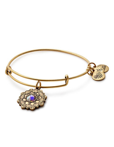 Alex And Ani Mother of the Bride Charm Bracelet-GOLD-One Size