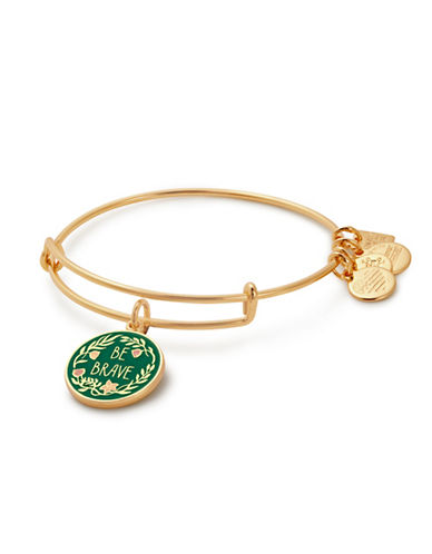 Alex And Ani Be Brave Charm Bangle-GOLD-One Size