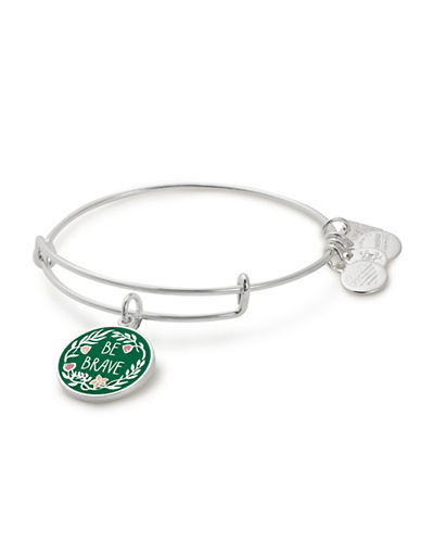 Alex And Ani Be Brave Charm Bangle-SILVER-One Size