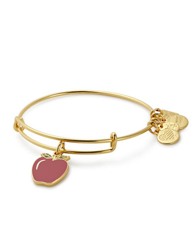 Alex And Ani Apple Charm Bangle Bracelet-GOLD-One Size