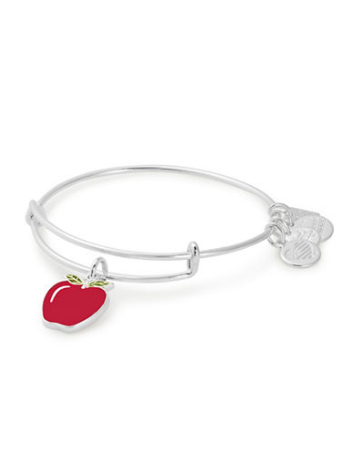 Alex And Ani Apple Charm Bangle Bracelet-SILVER-One Size