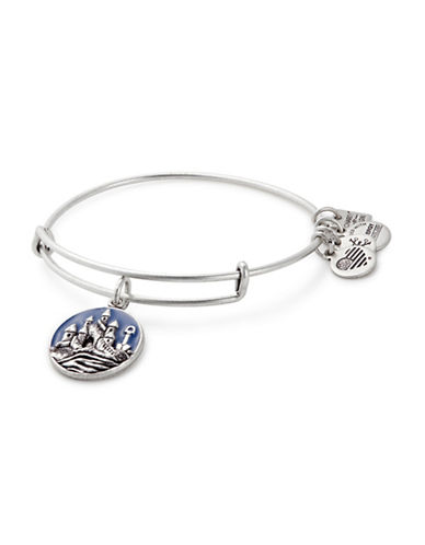 Alex And Ani Sand Castle Charm Bangle Bracelet-SILVER-One Size