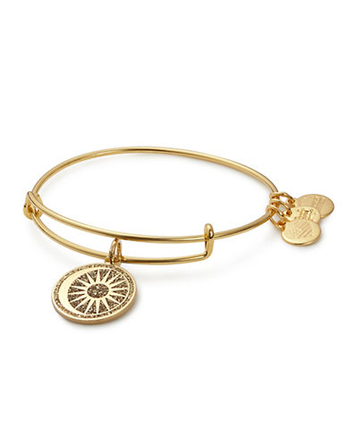 Alex And Ani Cosmic Balance Colour Infusion Charm Bangle-GOLD-One Size