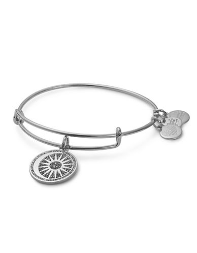 Alex And Ani Cosmic Balance Colour Infusion Charm Bangle-SILVER-One Size