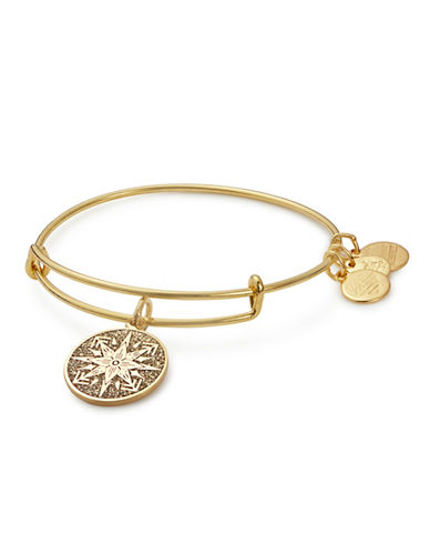 Alex And Ani Healing Love Colour Infusion Charm Bangle-GOLD-One Size