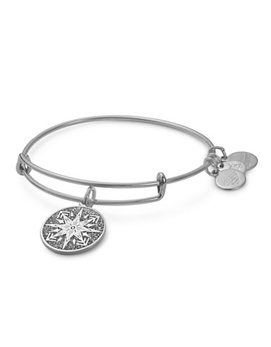 Alex And Ani Healing Love Colour Infusion Charm Bangle-SILVER-One Size