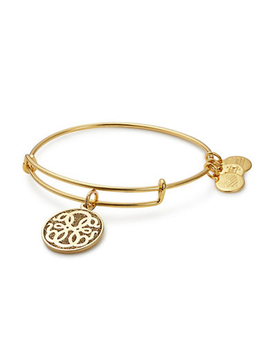 Alex And Ani Path of Life Colour Infusion Charm Bangle-GOLD-One Size