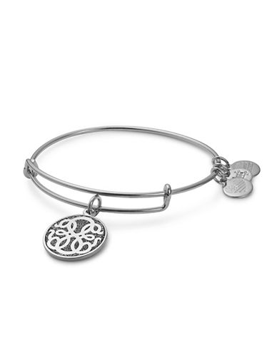 Alex And Ani Path of Life Colour Infusion Charm Bangle-SILVER-One Size