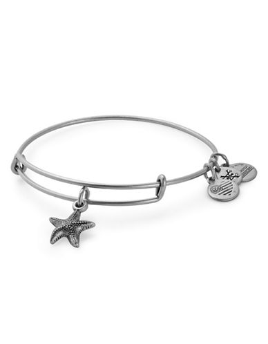 Alex And Ani Starfish Silverplated Bracelet-SILVER-One Size