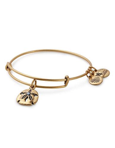 Alex And Ani Swarovski Crystal Sand Dollar Bracelet-GOLD-One Size