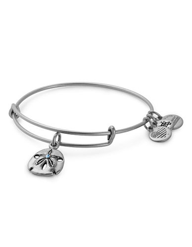 Alex And Ani Swarovski Crystal Sand Dollar Adjustable Bracelet-SILVER-One Size