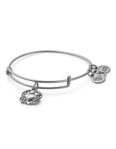 Alex And Ani Swarovski Crystal Crab Adjustable Bracelet-SILVER-One Size