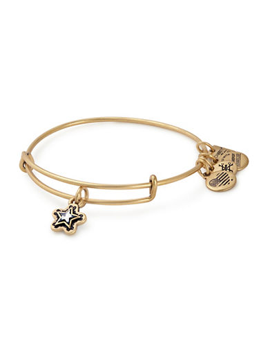 Alex And Ani Charity By Design, True Wish Swarovski Charm Bangle-GOLD-One Size