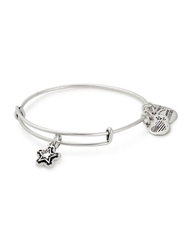 Alex And Ani Charity By Design, True Wish Swarovski Charm Bangle-SILVER-One Size