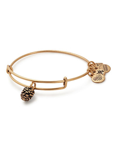 Alex And Ani Pinecone Charm Bangle-GOLD-One Size