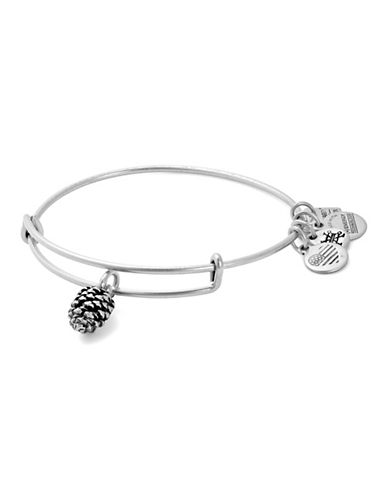 Alex And Ani Pinecone Charm Bangle-SILVER-One Size