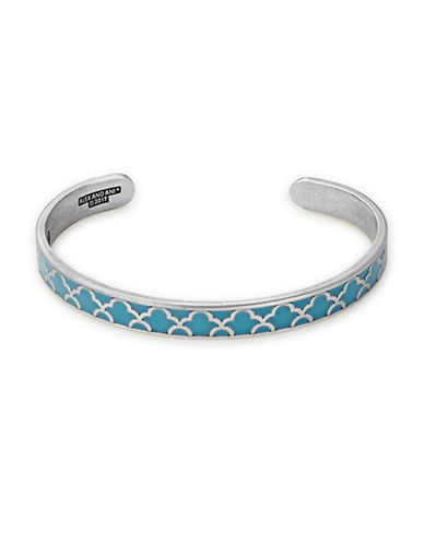 Alex And Ani Island Teal Color Infusion Cuff Bracelet-BLUE-One Size