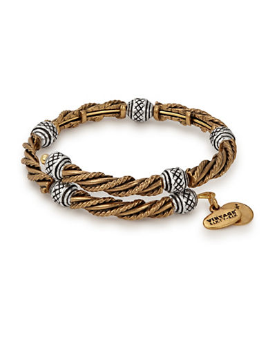 Alex And Ani Relic Two-Tone Wrap Bracelet-SILVER-One Size