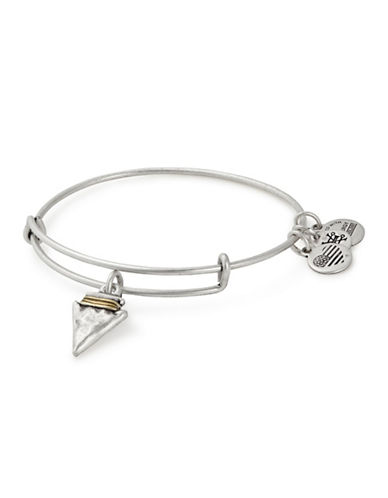 Alex And Ani Spirited Skull Charm Bangle-SILVER-One Size