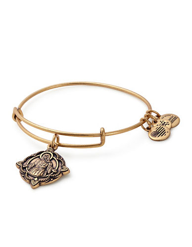 Alex And Ani Jesus Charm Bangle-GOLD-One Size