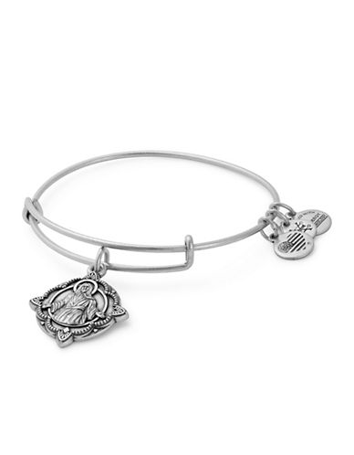 Alex And Ani Jesus Charm Bangle-SILVER-One Size