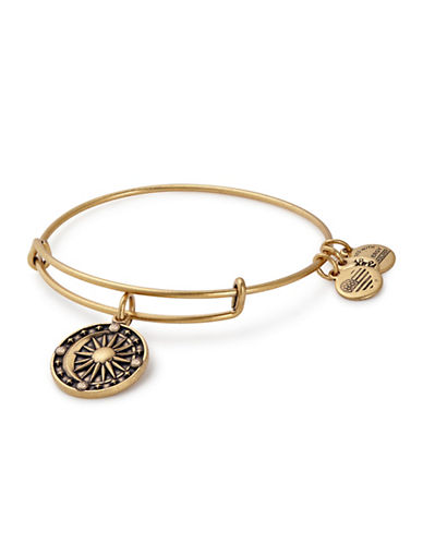 Alex And Ani Cosmic Balance Swarovski Charm Bangle-GOLD-One Size