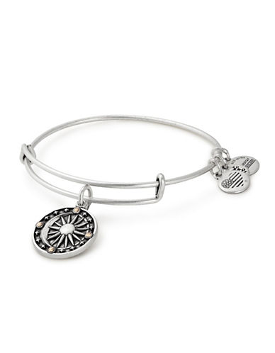 Alex And Ani Cosmic Balance Swarovski Charm Bangle-SILVER-One Size