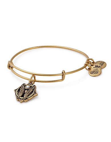Alex And Ani Godspeed Swarovski Charm Bangle-GOLD-One Size