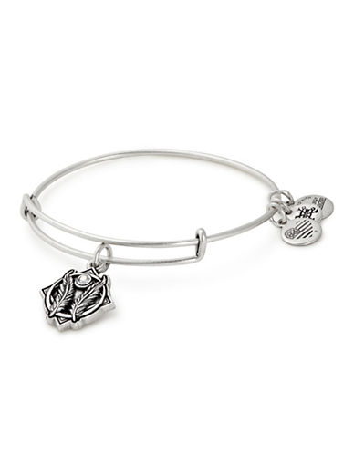 Alex And Ani Godspeed Swarovski Charm Bangle-SILVER-One Size