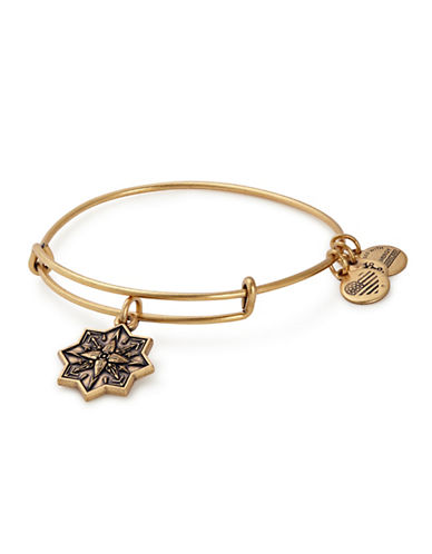 Alex And Ani Healing Love Charm Bangle-GOLD-One Size