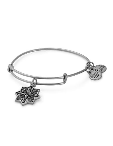 Alex And Ani Healing Love Charm Bangle-SILVER-One Size