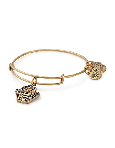 Alex And Ani Queen Bee Charm Bangle-GOLD-One Size