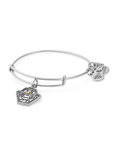 Alex And Ani Queen Bee Charm Bangle-SILVER-One Size