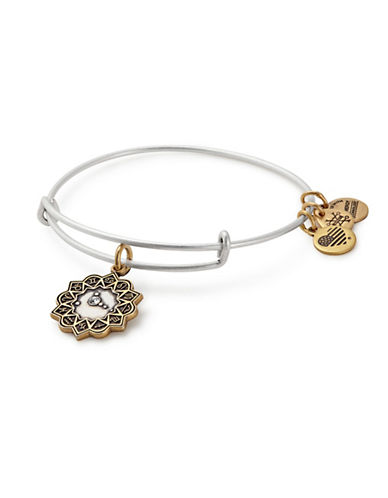 Alex And Ani Swarovski Crystal Cancer Charm Bangle-TWO TONE-One Size