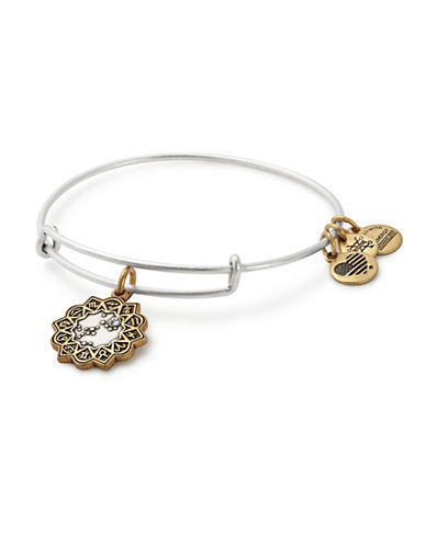 Alex And Ani Swarovski Crystal Sagittarius Charm Bangle-TWO TONE-One Size