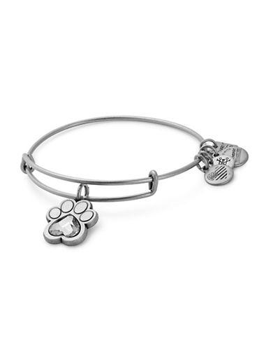 Alex And Ani Prints of Love Charm Bangle Bracelet-SILVER-One Size