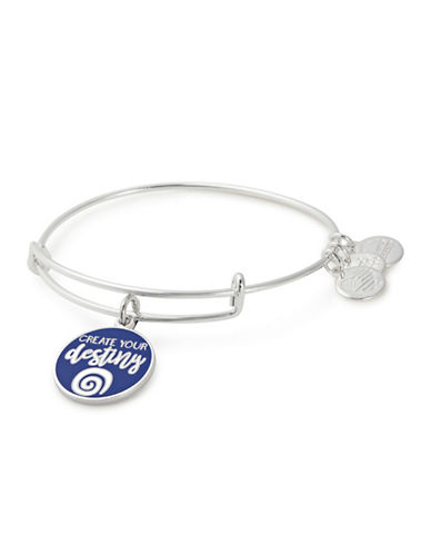 Alex And Ani Create Your Destiny Charm Bangle-SILVER-One Size
