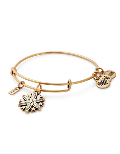 Alex And Ani Snowflake Charm Bangle-GOLD-One Size