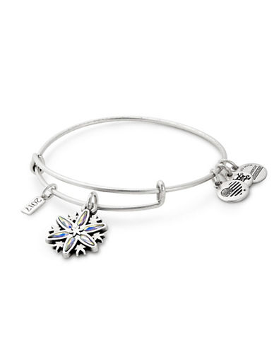 Alex And Ani Snowflake Charm Bangle-SILVER-One Size