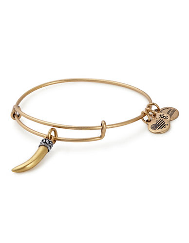 Alex And Ani Horn Charm Bangle-GOLD-One Size